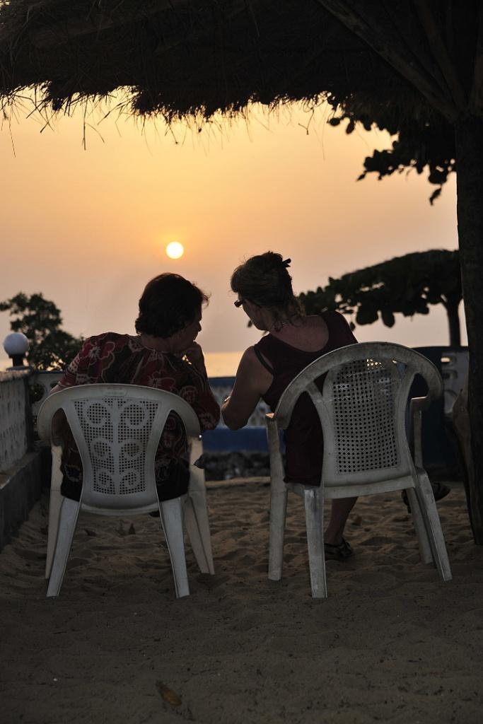 Enjoy the Beautiful sunset at MAFILTON GREEN RESORT, Lagom beach, Sierra Leone, West Africa